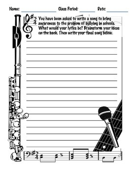 Music Writing & Creativity Prompts Set