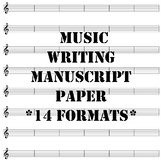 Music Writing Manuscript Paper Collection Variety of Formats