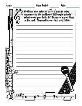 Music Writing Prompt: Anti-Bullying