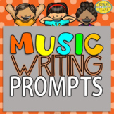 Elementary Music Writing Prompts (Music worksheets-black a