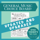 Music Year-End Project Choice Board