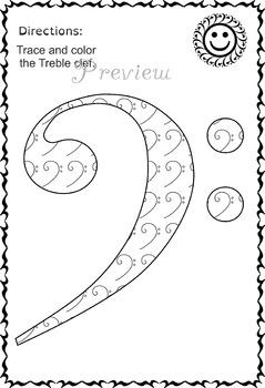 Music activity sheets (tracing symbols)