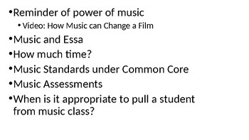 Music and ESSA