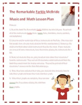 Music and Math (Graphing) Lesson with The Remarkable Farkle McBride