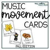 Music and Movement Cards: Fall, Halloween, and Thanksgiving Edition