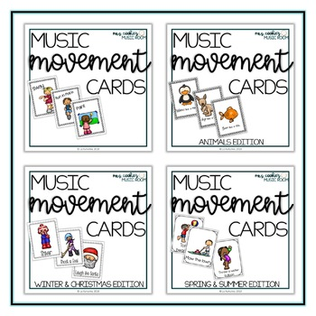 Music and Movement Cards: The Mega Bundle