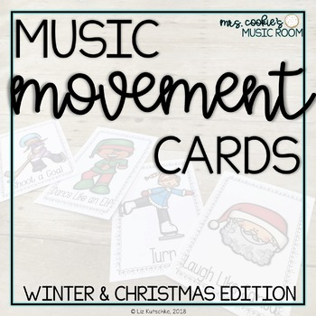 Music and Movement Cards: Winter and Christmas Edition