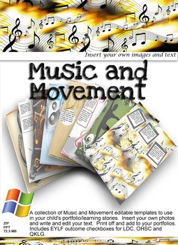 EYLF Music and Movement Editable Pack