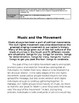Music and the Movement: social movements told through music, artists, lyrics etc