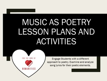 Music as Poetry Lesson Plans