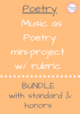 Music as Poetry Project - Bundled with Lower and Upper Lev