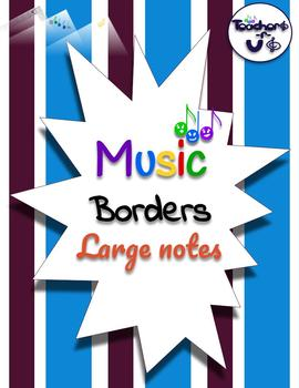 Music borders- Large notes