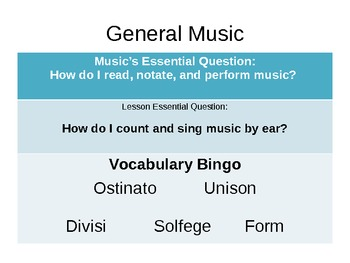 Music by Rote PowerPoint: Review of Solfege & Learning Form