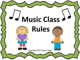 Music class rule posters