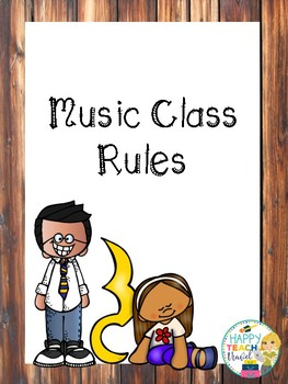 Elementary Music class rules