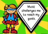 Music classroom posters - editable for any subject area