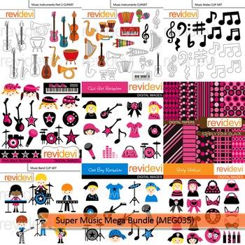 Music clip art: Super music clipart bundle (9 packs)