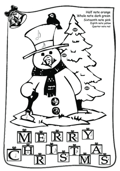 Music coloring: Merry Christmas