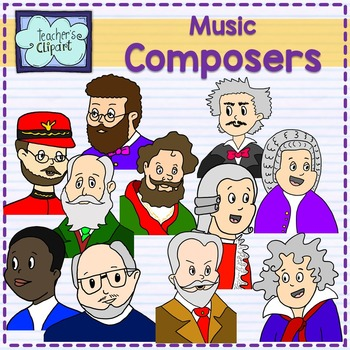Music composers clipart