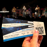 Music concert tickets for Art education