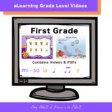 Music eLearning: First Grade Concept Videos and PDFs