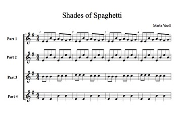 Music for Barred Instruments/Orff/Shades of Spaghetti/Performance