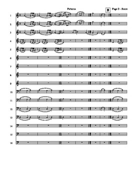 Music for any 16 instruments - Patterns