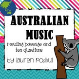 Music from Australia - Reading Passage and Questions - Gre