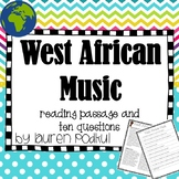 Music from West Africa - Reading Passage and Questions - G