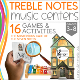 Music games in the classroom | Boomcards for treble clef notes