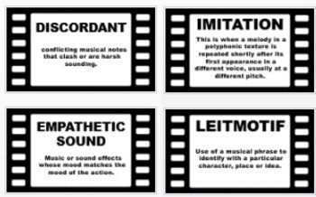 Music in Film - Terminology Posters