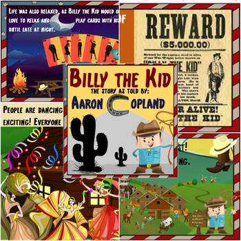 Music in History - Billy The Kid Guided Listening Activity