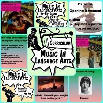 Music in ELA - Arts Curriculum ~BUNDLE~ Middle School Music Lesson Plans
