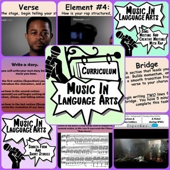 Music in ELA Curriculum ~BUNDLE~