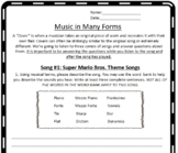 Music in Many Forms Substitute Plan!