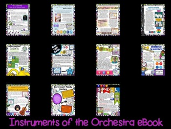 Music in Our Schools Month:  Instruments of the Orchestra eBook