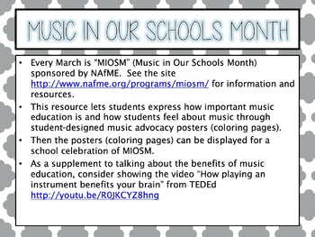 Music in Our Schools Month (MIOSM) Advocacy Coloring Pages #musicisessential