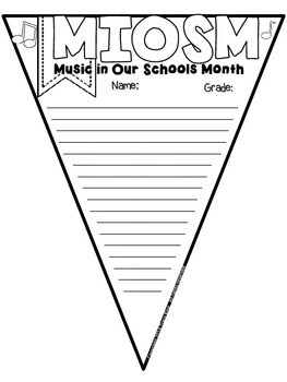 Music in Our Schools Month Pennants