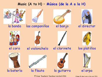 Music in Spanish Posters / Slides