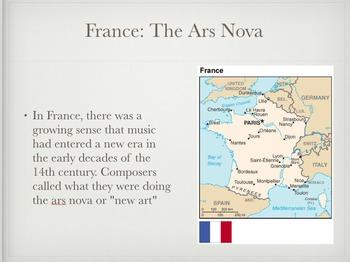 Music in the 14th Century Presentation - Keynote Version (Mac)
