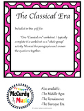 Music in the Classical Era: a lesson for Middle Schoolers!