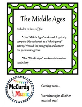 Music in the Middle Ages: a unit for Middle Schoolers!