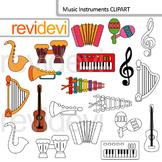 Music instruments clip art