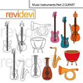 Music instruments part 2 clip art