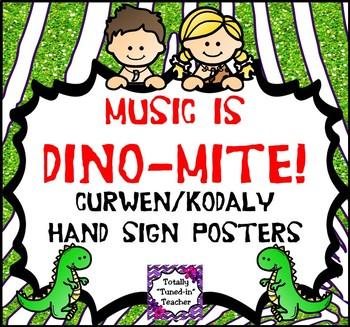 Music classroom resource decor: Curwen/Kodaly Handsign Posters