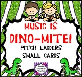 Music classroom resource: DINO-mite Pitch Ladder {Small Cards}