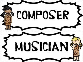Music is DINO-mite - DINO-mite Word Wall - Vocabulary Volcano