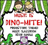 Music Classroom Decor Bundle:  Music is DINO-mite