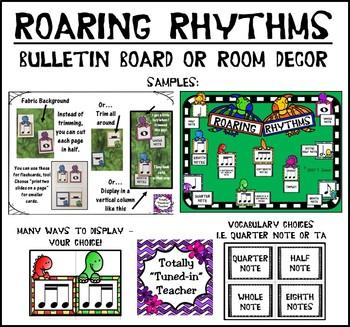 Music is DINO-mite - Roaring Rhythms Bulletin Board or decor