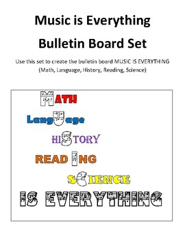 Music is Everything Bulletin Board Set